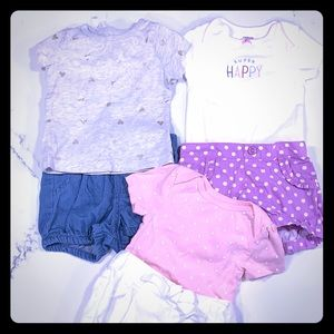 Other - 3 outfit bundle! Tops and shorts 6-9 month